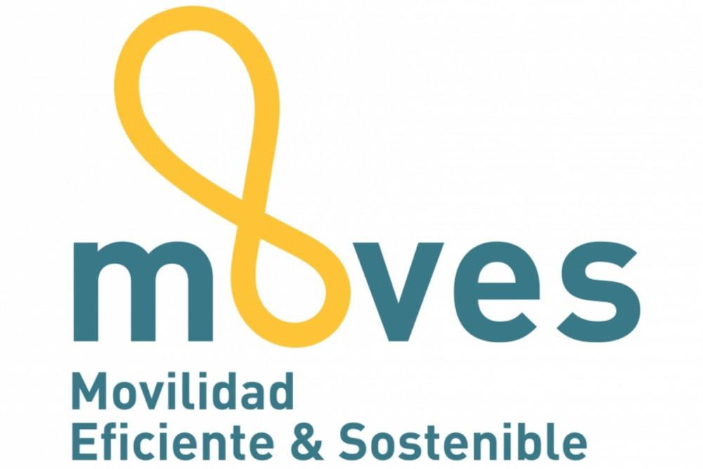 Logo de plan moves, movilidad eficiente & sostenible