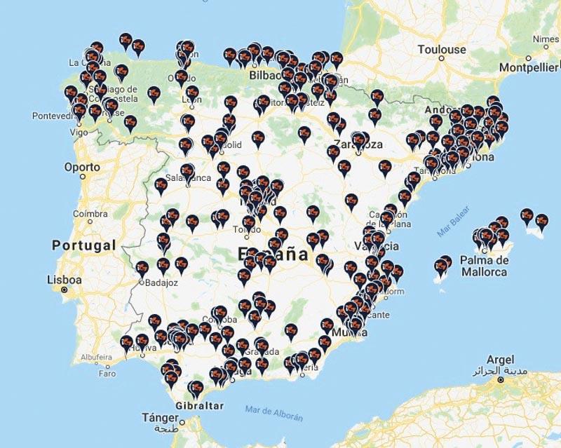 Mapa de las gasolineras glp en españa. Ventajas e inconvenientes del GLP